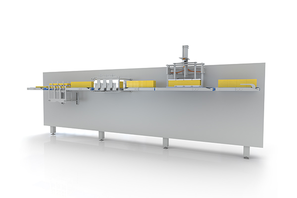 Automatic Stacker Cutter Infeed Render
